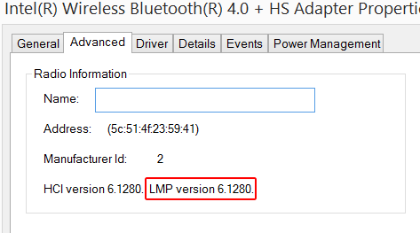 What version of the Bluetooth standard does my computer